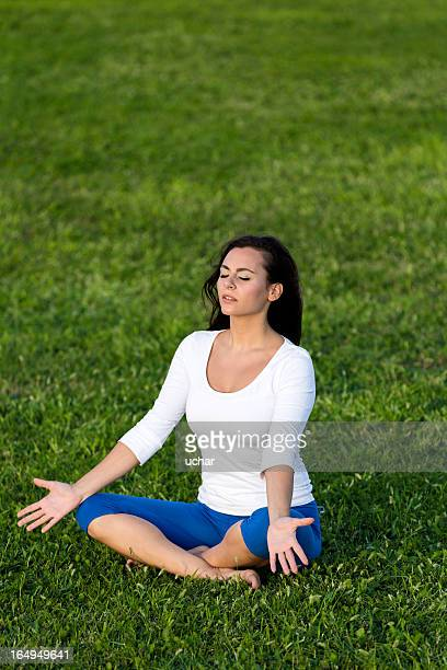 Yoga on the grass