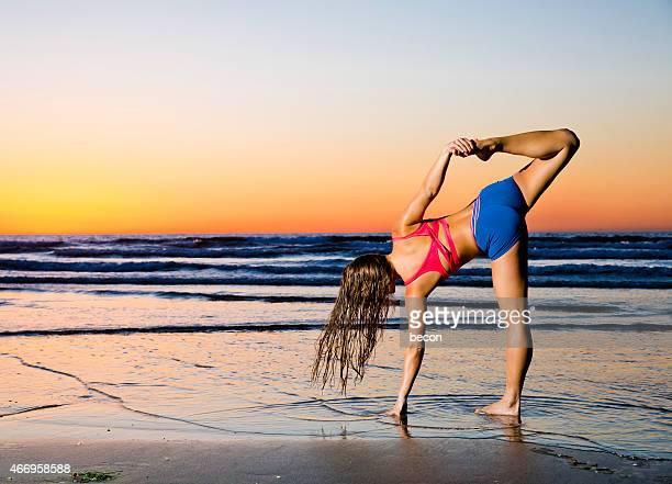 Yoga Pose at the Beach