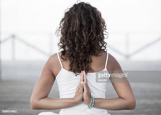 Yoga reverse namaste Paschim Namaskarasana