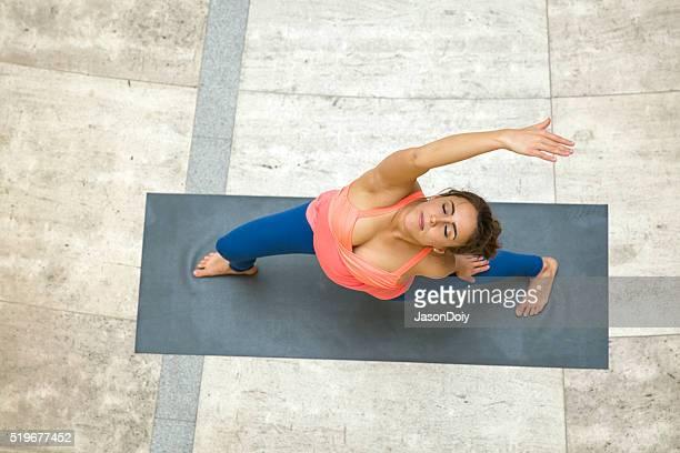Yoga et d'étirements