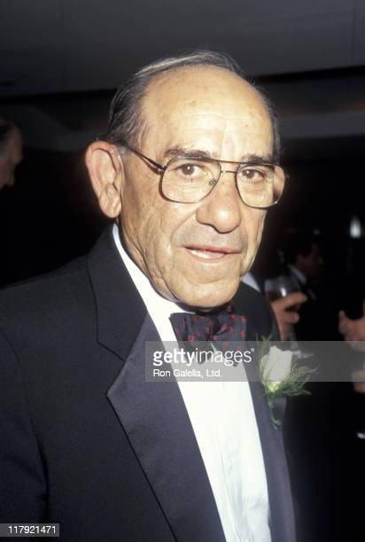 Yogi Berra during New York's Top 100 Sports Moments Unveiling September 11 1997 at Madison Square Garden in New York City New York United States