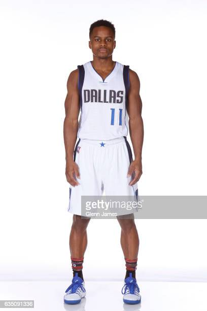 Yogi Ferrell of the Dallas Mavericks poses for a photo on February 10 2017 at the American Airlines Center in Dallas Texas NOTE TO USER User...