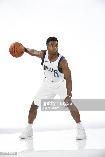 Yogi Ferrell of the Dallas Mavericks poses for a portrait during the Dallas Mavericks Media Day on September 25 2017 at the American Airlines Center...