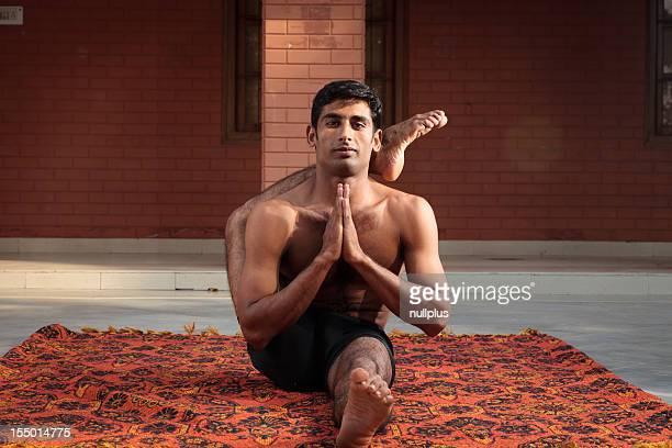yogi in a sitting posture