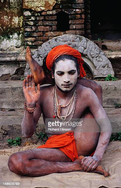 Yogi sadhu (wandering holy man) at the temple complex.