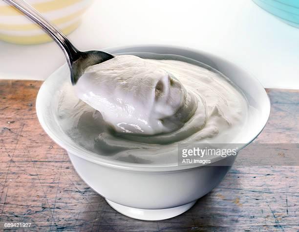 yogurt in dish