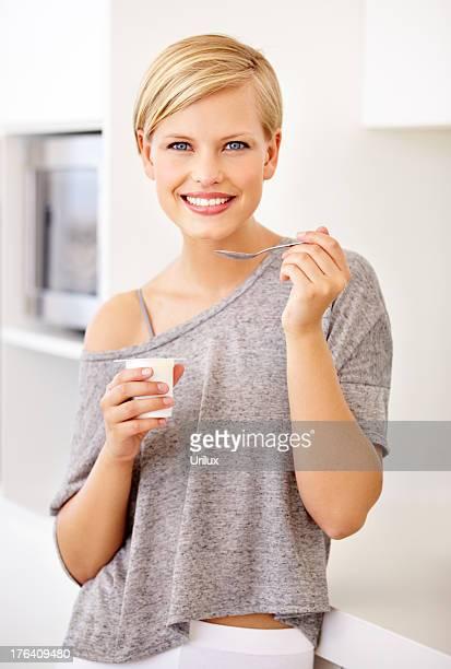 Du yaourt est la partie de mon alimentation