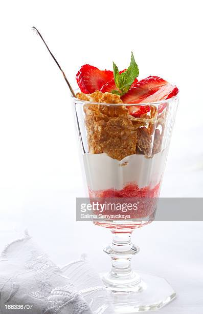 Yogurt Parfait with  Strawberries