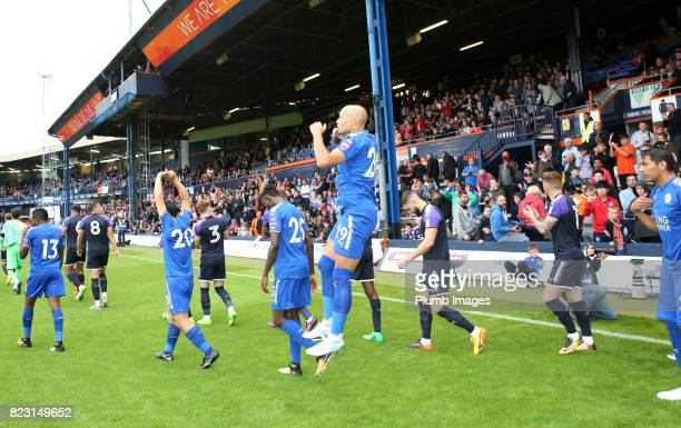 Yohan Benalouane of Leicester City at Kenilworth Road ahead of the pre season friendly between Luton Town and Leicester City on July 26th 2017 in...