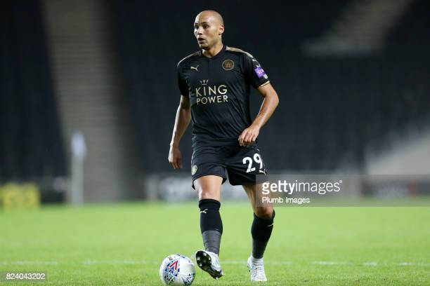 Yohan Benalouane of Leicester City during the pre season friendly between MK Dons and Leicester City on July 28th 2017 in Milton Keynes United Kingdom