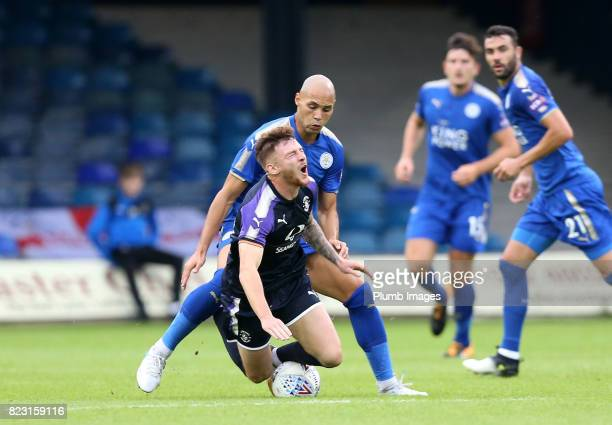 Yohan Benalouane of Leicester City in action during the pre season friendly between Luton Town and Leicester City on July 26th 2017 in Luton United...