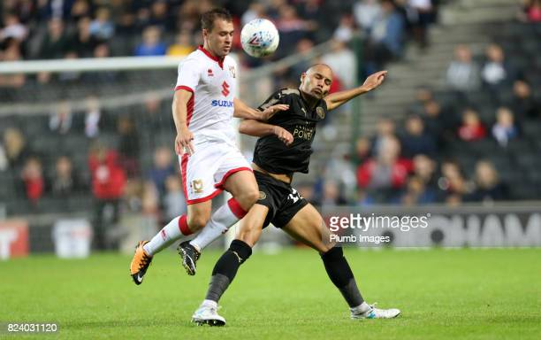 Yohan Benalouane of Leicester City in action during the pre season friendly between MK Dons and Leicester City on July 28th 2017 in Milton Keynes...