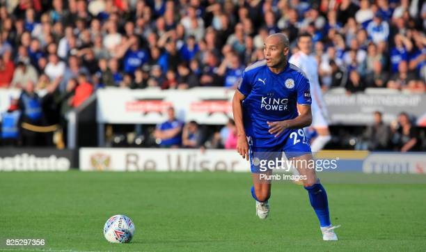 Yohan Benalouane of Leicester City in action during the pre season friendly between Burton Albion and Leicester City at Pirelli Stadium on August 1st...