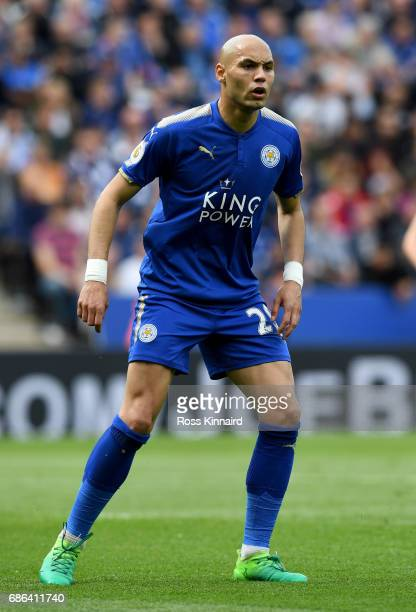 Yohan Benalouane of Leicester City in action during the Premier League match between Leicester City and AFC Bournemouth at The King Power Stadium on...