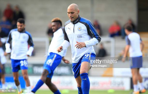 Yohan Benalouane of Leicester City warms up at Pirelli Stadium ahead of the pre season friendly between Burton Albion and Leicester City at Pirelli...