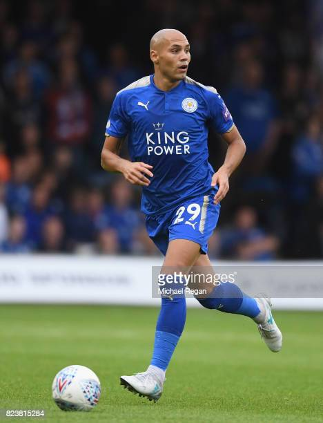 Yohan Benalouane of Leicester in action during the preseason friendly match between Luton Town and Leicester City at Kenilworth Road on July 26 2017...