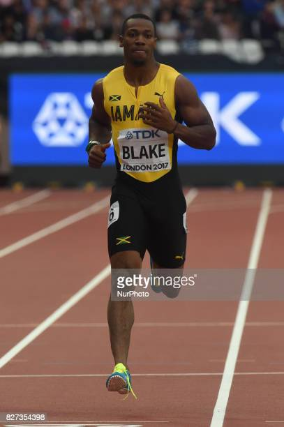 Yohan BLAKE Jamaica during 200 meter heats in London on August 7 2017 at the 2017 IAAF World Championships athletics