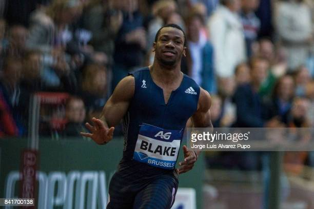 Yohan Blake of Jamaica reacts during men's 100m during the AG Insurance Memorial Van Damme as part of the IAAF Diamond League 2017 at King Baudouin...
