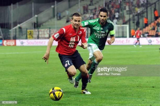 Yohan CABAYE Loic PERRIN Saint Etienne / Lille 35eme journee de Ligue 1