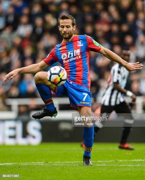 Yohan Cabaye of Crystal Palace controls the ball during the Premier League match between Newcastle United and Crystal Palace at StJames' Park on...