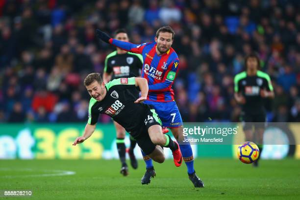 Yohan Cabaye of Crystal Palace fouls Ryan Fraser of AFC Bournemouth during the Premier League match between Crystal Palace and AFC Bournemouth at...