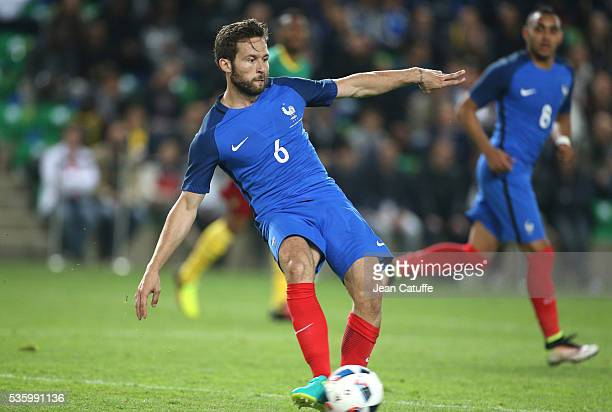 Yohan Cabaye of France in action during the international friendly match between France and Cameroon at Stade de La Beaujoire on May 30 2016 in...