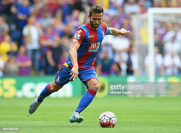 Yohan Cabaye of Palace in action during the Barclays Premier League match between Crystal Palace and Arsenal on August 16 2015 in London United...
