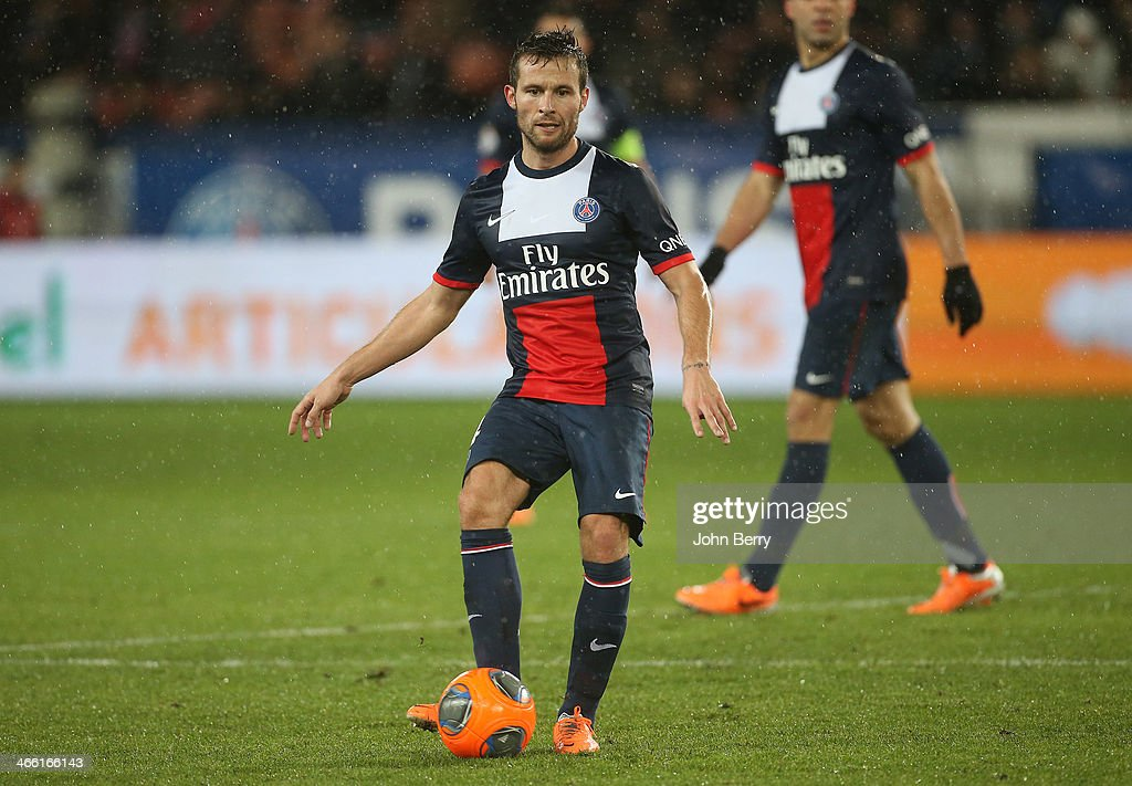 <a gi-track='captionPersonalityLinkClicked' href=/galleries/search?phrase=Yohan+Cabaye&family=editorial&specificpeople=648909 ng-click='$event.stopPropagation()'>Yohan Cabaye</a> of PSG in action during the Ligue 1 match between Paris Saint-Germain FC and FC Girondins de Bordeaux at the Parc des Princes stadium on January 31, 2014 in Paris, France.