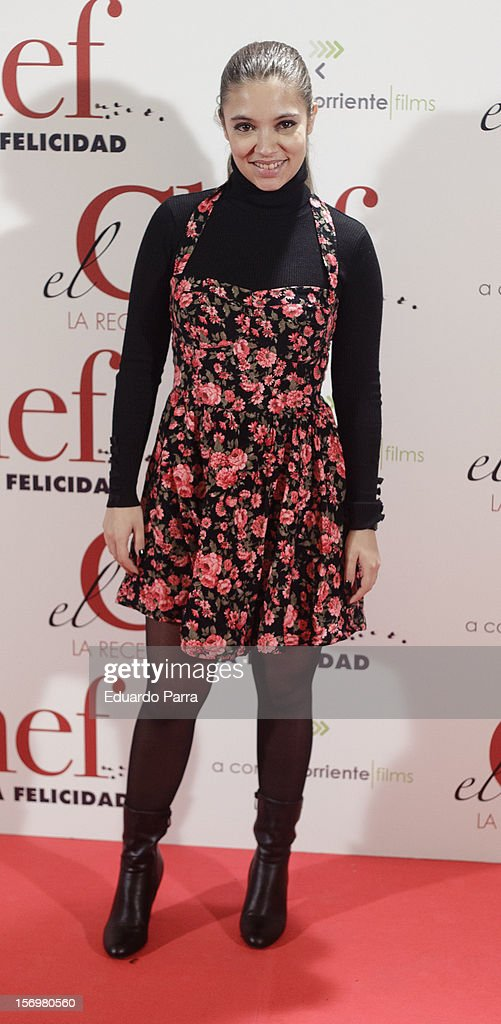 Yohana Cobo attends 'El chef, la receta de la felicidad' ('Comme un chef') premiere photocall at Palafox cinema on November 26, 2012 in Madrid, Spain.