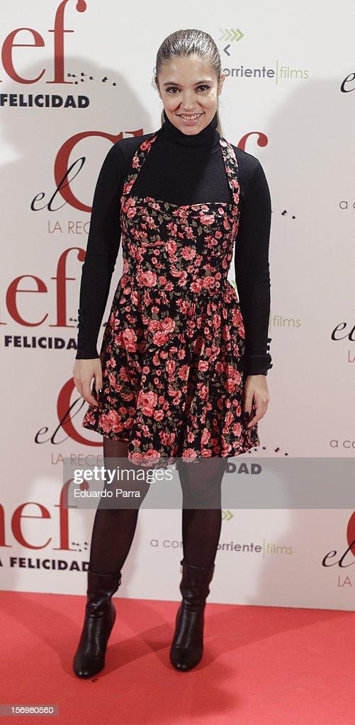 Yohana Cobo attends 'El chef, la receta de la felicidad' ('Comme un chef') premiere photocall at Palafox cinema on November 26, 2012 in Madrid, Spain.