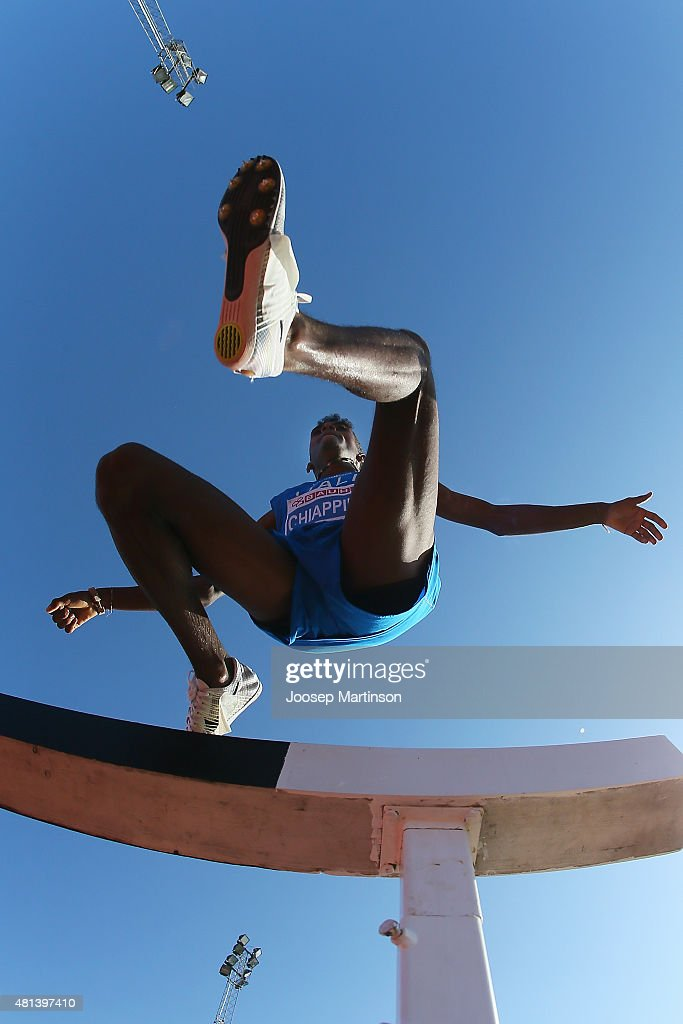Yohanes Chiappinelli of Italy competes during the MensÕs 3000m Steeplechase final at Ekangen Arena on July 19 2015 in Eskilstuna Sweden