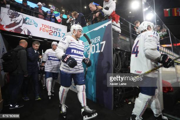Yohann Auvitu France during the 2017 IIHF Ice Hockey World Championship game between Norway and France at AccorHotels Arena on May 06 2017 in Paris...