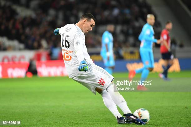 Yohann Pele of Marseille during the Ligue 1 match between Lille OSC and Olympique de Marseille at Stade Pierre Mauroy on March 17 2017 in Lille France