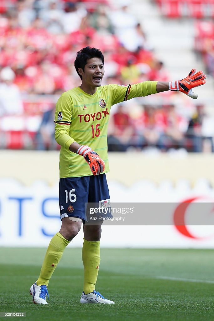 Yohei Takeda of Nagoya Grampus in action during the J.League match between Nagoya Grampus and Yokohama F.Marinos at the Toyota Stadium on May 4, 2016 in Toyota, Aichi, Japan.