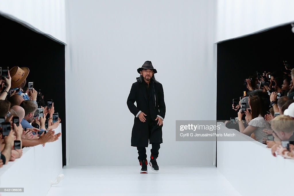 Yohji Yamamoto during the Y-3 SS17 Paris Fashion Week Show on June 26, 2016 in Paris, France.