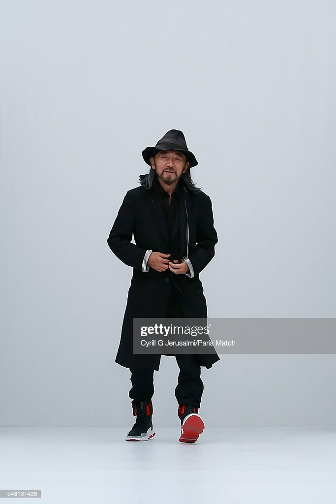 Yohji Yamamoto during the Y-3 SS17 Paris Fashion Week Show on June 26, 2016 in Paris, France.