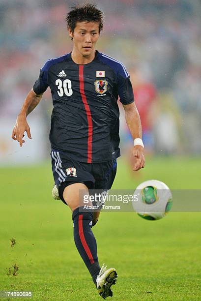 Yoichiro Kakitani of Japan in action during the EAFF East Asian Cup match between Korea Republic and Japan at Jamsil Stadium on July 28 2013 in Seoul...