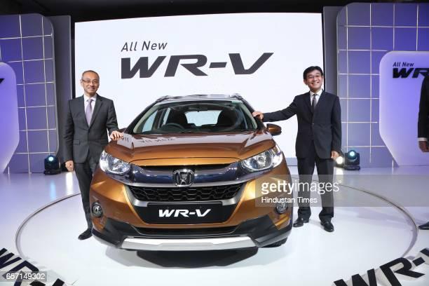 Yoichiro Ueno President and CEO Honda Cars India Ltd and Noriaki Abe Chief Operating Office and Regional Operation Honda Motor Co during the launch...