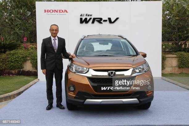 Yoichiro Ueno President and CEO Honda Cars India Ltd during the launch of allnew Honda WRV on March 16 2017 in New Delhi India WRV the latest...