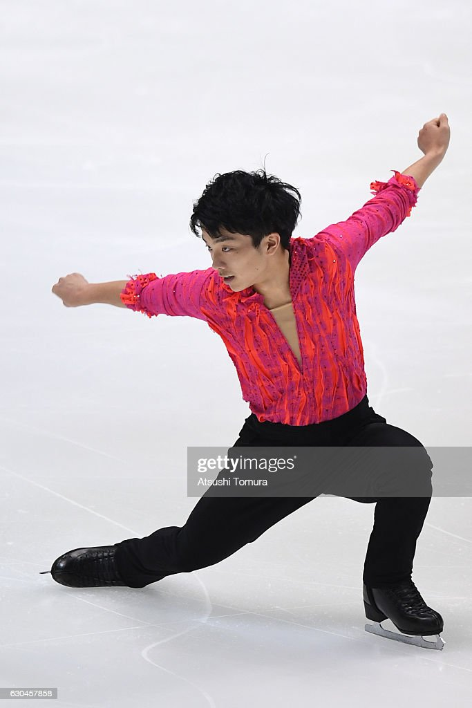 Yoji Nakano of Japan competes in the Men short program during the Japan Figure Skating Championships 2016 on December 23, 2016 in Kadoma, Japan.
