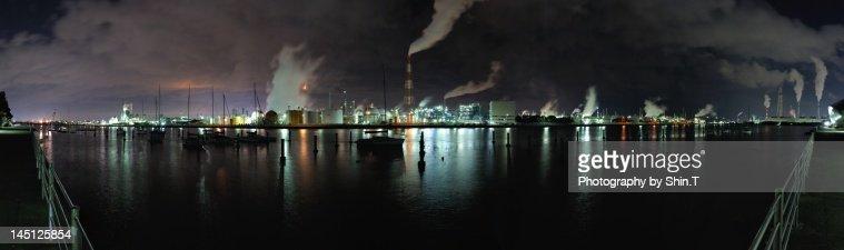 Yokkaichi industrial area panorama view