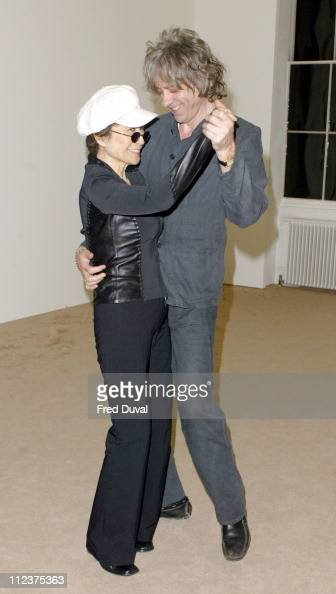 Yoko Ono and Bob Geldof during 2004 Beck's Futures Award at ICA in London Great Britain