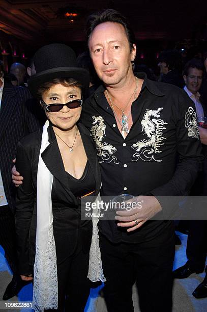 Yoko Ono and Julian Lennon during 'LOVE' Cirque du Soleil Celebrates the Musical Legacy of The Beatles Party and Show at The Mirage Hotel and Casino...