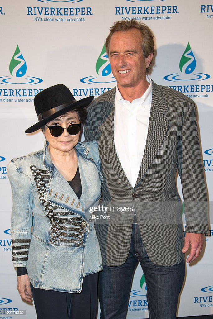 <a gi-track='captionPersonalityLinkClicked' href=/galleries/search?phrase=Yoko+Ono&family=editorial&specificpeople=202054 ng-click='$event.stopPropagation()'>Yoko Ono</a> and <a gi-track='captionPersonalityLinkClicked' href=/galleries/search?phrase=Robert+F.+Kennedy+Jr.+-+Environmental+Lawyer&family=editorial&specificpeople=240088 ng-click='$event.stopPropagation()'>Robert F. Kennedy Jr.</a> attend the 2013 Riverkeeper's Fishermen's Ball at Pier 60 on April 16, 2013 in New York City.