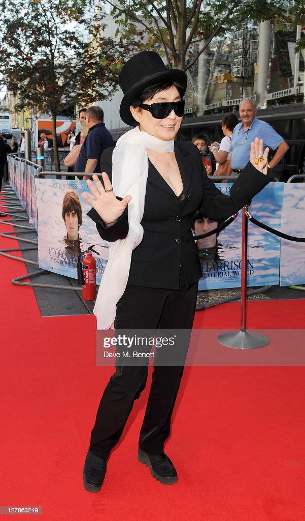 <a gi-track='captionPersonalityLinkClicked' href=/galleries/search?phrase=Yoko+Ono&family=editorial&specificpeople=202054 ng-click='$event.stopPropagation()'>Yoko Ono</a> arrives at the UK Premiere of 'George Harrison: Living In The Material World' at BFI Southbank on October 2, 2011 in London, England.