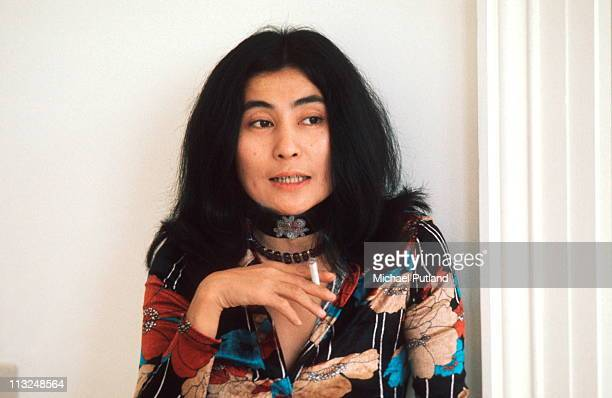 Yoko Ono at home during John Lennon interview Tittenhurst Park near Ascot Berkshire July 1971