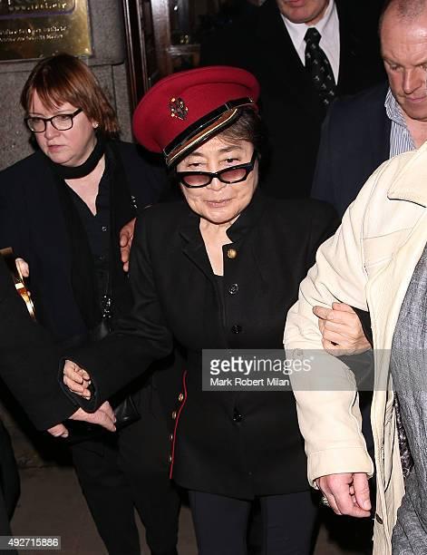 Yoko Ono attending the Attitude Magazine Awards on October 14 2015 in London England