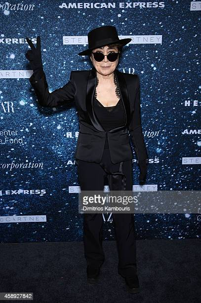 Yoko Ono attends 2014 Women's Leadership Award Honoring Stella McCartney at Alice Tully Hall at Lincoln Center on November 13 2014 in New York City