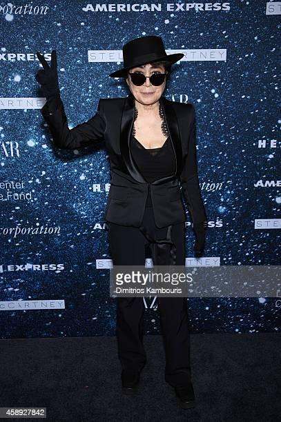 Yoko Ono attends 2014 Women's Leadership Award Honoring Stella McCartney at Alice Tully Hall at Lincoln Center on November 13 2014 in New York City