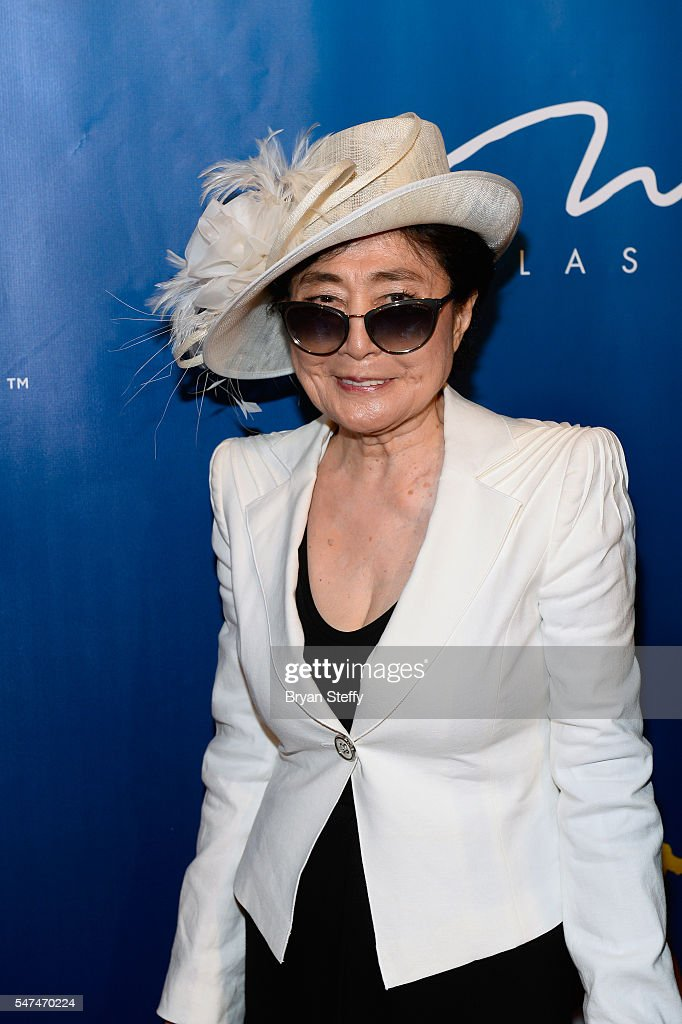 Yoko Ono attends the 10th anniversary celebration of 'The Beatles LOVE by Cirque du Soleil' at the Mirage Hotel & Casino on July 14, 2016 in Las Vegas, Nevada.